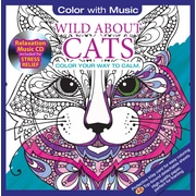 Color with Music - Livre à colorier pour adultes, amoureux des chats, sons de la nature, 48 images