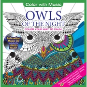 Color with Music, Adult Colouring Book, Owls of The Night, Music inspired from Mandalas,  48 Pictures