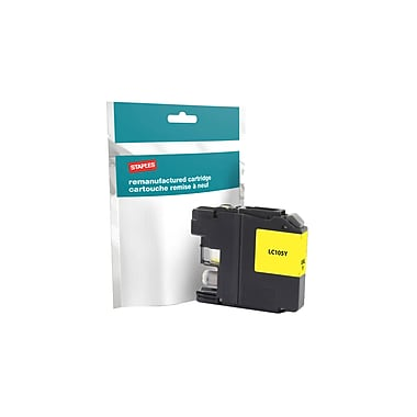 Staples - Cartouche d'encre jaune remise à neuf, Brother LC-105Y XXL