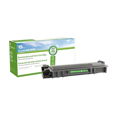 Sustainable Earth by Staples - Cartouche de toner noir, remise à neuf, Brother SEBTN660R