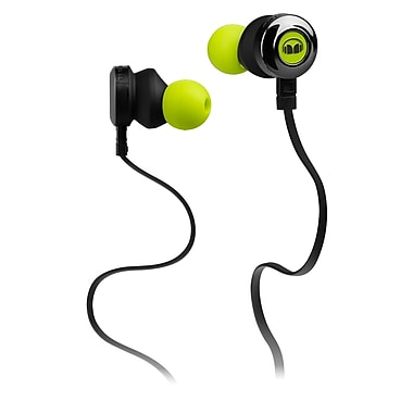 Monster® – Écouteurs intra-auriculaires Clarity HD™ haute performance, vert fluo