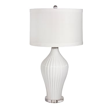 Cobistyle Glass Lamp with Linen Shade, 30