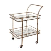"Home Details Serving Trolley, 18.5"" x 28"" x 37"", Gold"