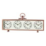 Home Details - horloge à 4 cadrans, 24 x 2,36 x 11 (po), cuivre