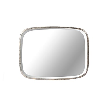 Steven and Chris – Miroir rectangulaire en zinc, 18 x 14 po, noir rustique