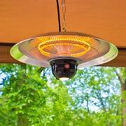 EnerG+ Hanging Infrared 1500 Watt Electric Hanging Patio Heater; Silver