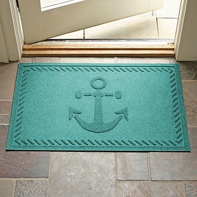 Bungalow Flooring Aqua Shield Ship's Anchor Doormat; Medium Brown