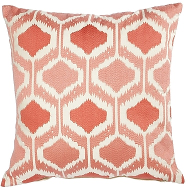 A&B Home Mila Pillow in Coral