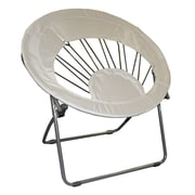 ImpactCanopy Bungee Chair Folding Dorm Lounge Chair; Gray