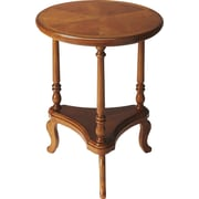Butler Plantation Petry Multi-Tiered Plant Stand; Olive Ash Burl