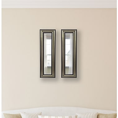 Rayne Mirrors Molly Dawn Rayne Antique Mirror Panels Set of 2; 11.5 X 32.5