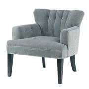 Madison Park Riveria Accent  Armchair; Blue/Black Noir
