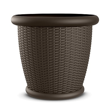 Suncast Willow Resin Pot Planter (Set of 2)