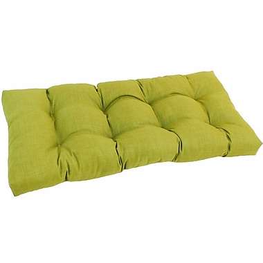 Blazing Needles Outdoor Loveseat Cushion; Lime