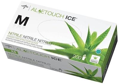 Aloetouch® Ice™ Powder-free Latex-free Nitrile Exam Gloves, Green, XS, 9