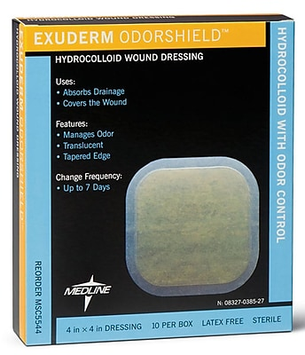 Exuderm® Odorshield Hydrocolloid Dressings, 6