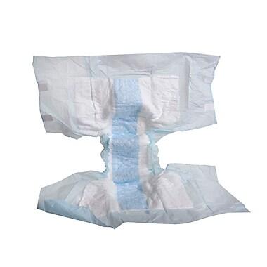 Medline Adult Full Fit Briefs, Blue, Large, 6/16'S, 96/Pack