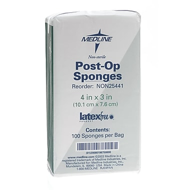 Medline Non-sterile Post-op Gauze Sponges, 4