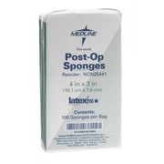 "Medline Non-sterile Post-op Gauze Sponges, 4"" x 3"" Size, 2000/Pack"