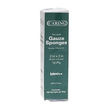 Caring® Woven Non-sterile Gauze Sponges, 2