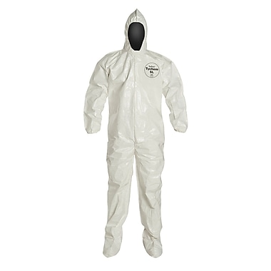 Dupont™ Tychem® SL122B Chemical Protective Coverall, White, 4X-Large