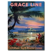 "Trademark Global ""Grace Line Cruises"" Canvas Art, 24"" x 18"""