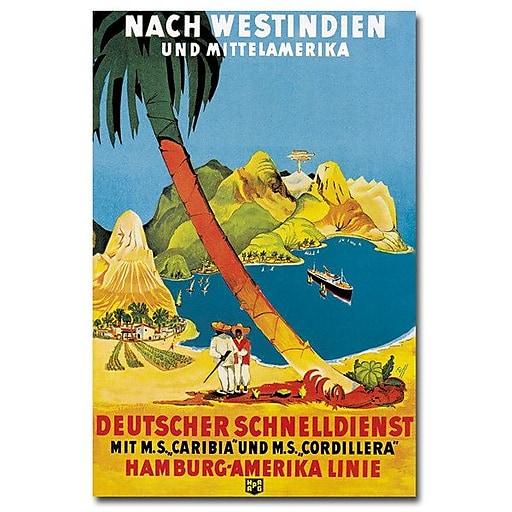 "Trademark Global ""Hamburg-Amerika Linie"" Canvas Art, 47"" x 30"""