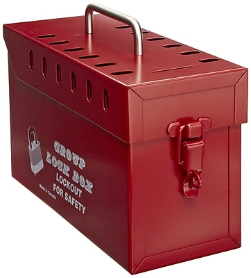 North GLB03/E Tamper Free Group Lock Box, Red 197495