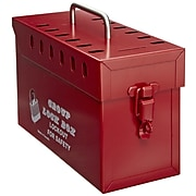 North® GLB03/E Tamper Free Group Lock Box, Red