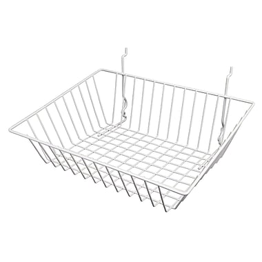 Econoco BSK16/W Sloping Basket, White, Semi-Gloss