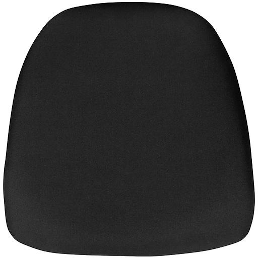 Flash Furniture Hard Fabric Chiavari Chair Cushion for Crystal / Resin Chiavari Chairs, Black, 10/Pack