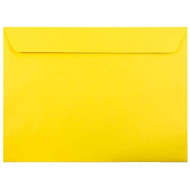 JAM Paper® 9 x 12 Booklet Envelopes, Brite Hue, Yellow Recycled, 25/pack (5156775)