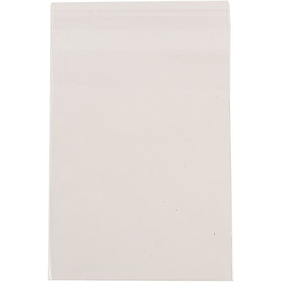 JAM Paper® Cello Sleeves with Self Adhesive Closure, 8 7/16 x 10 1/4, Clear, 1000/carton (8X10CELLOB)
