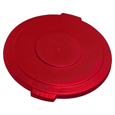 Carlisle Polyethylene Round Lid for 44 gal. Bronco Series Container, Red
