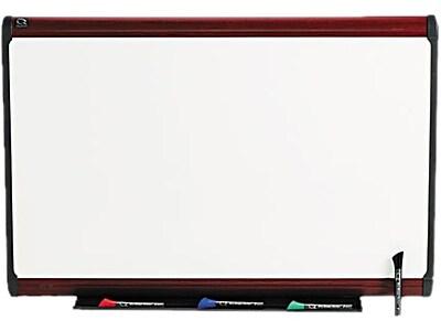 Quartet® Prestige Plus® DuraMax® Porcelain Dry-Erase Board with Mahogany Finish Frame, 3'x2'