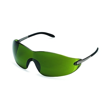 MCR Safety® ANSI Z87.1 Blackjack® Safety Glasses, Green, 3.0 Shade