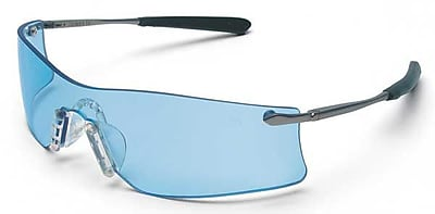 MCR Safety® ANSI Z87 Rubicon® Crews Protective Glasses, Light Blue