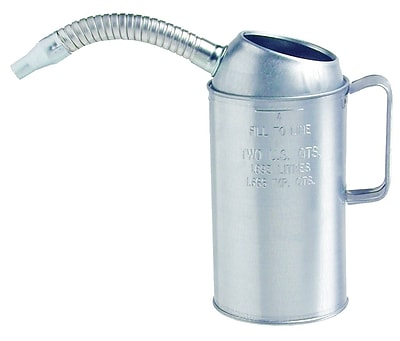 Plews® 1/2 in (OD) Tip Galvanized Measuring Can, 9 1/2 in (H), 2 qt Capacity