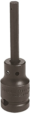 Proto® Pin Locking Impact Socket Hex Bit, 1/2 in Square Drive, 5/8 in Socket x 2 in Bit
