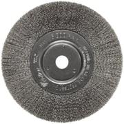 Trulock™ 6 in (OD) 3/4 in (W) Face Narrow-Face Crimped Wire Wheel Brush, 0.006 in Wire, SS