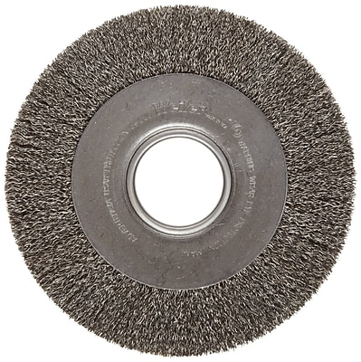 Trulock™ 8 in (OD) 1 in (W) Face Medium Face Crimped Wire Wheel Brush, 0.014 in Coarse, Steel