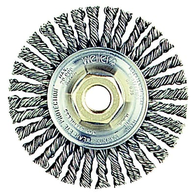 Dualife 6 in (OD) 1/2 in (W) Face Stringer Bead Wire Wheel Brush, 0.023 in Wire, Steel 708006