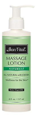 Bon Vital Naturale Unscented Massage Lotions, 8oz. Pump Bottle