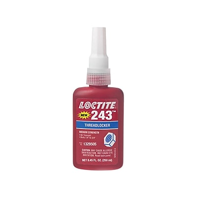 Loctite® 243™ Medium Strength Blue Threadlocker, Blue, 250 mL