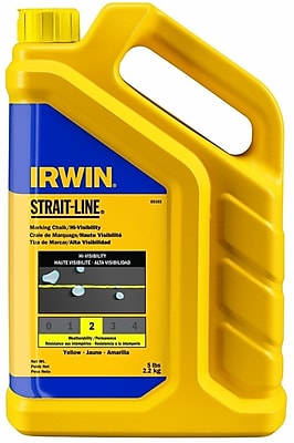 Strait-Line® Marking Chalk Refill, 5 lb, Yellow