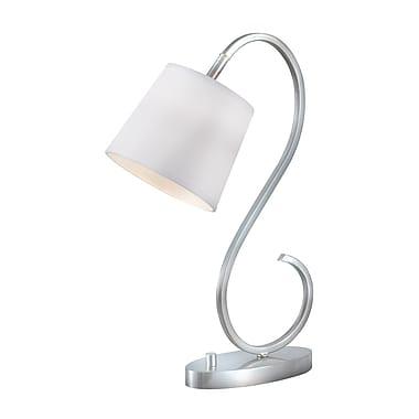 Kenroy Wilson Incandescent Desk Lamp, Brushed Steel Finish