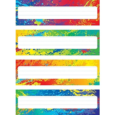 Trend Enterprises® Kindergarten - 4th Grades Name Plate, Splashy Colors