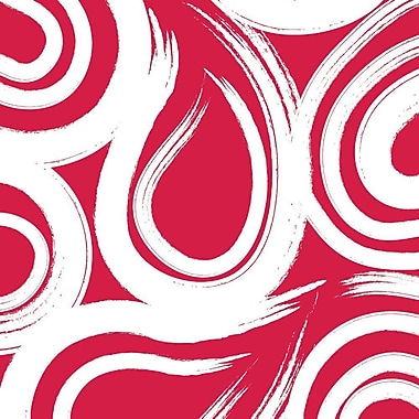 Creative Converting Classic Red Swirl 3-Ply Beverage Napkins, 16/Pack