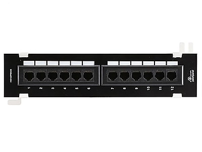 Monoprice® 12 Ports Cat6 110 Type Mini Patch Panel