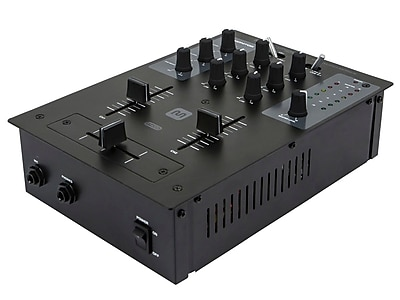 Monoprice® 614320 2 Channel DJ Mixer With USB